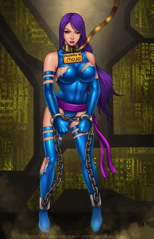 Commission: Psylocke captured again by johnbecaro