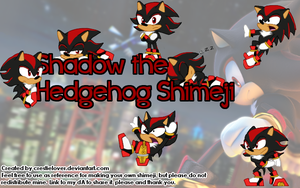 Shadow the Hedgehog Shimeji by Crestielover