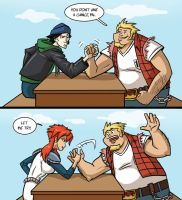 MegasXLR arm wrestling by Ritualist