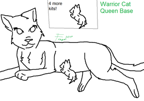 Warrior Cat Queen Base by foxgirl4300