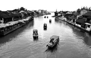 Boats on the River Cao by RakelClark