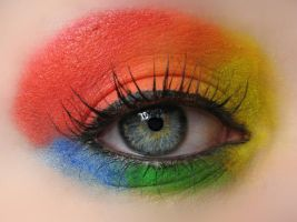 Rainbow Make-up by KatherineDavis