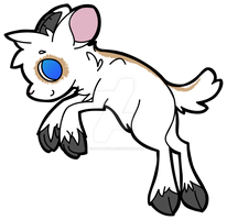Goat Sticker by Deadly-Meow