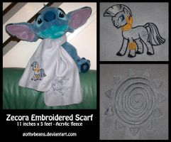 Zecora Embroidered Scarf by GothyBeans