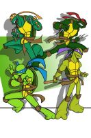 The Four Turtles. by iJayDeath