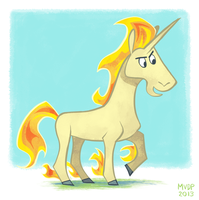 Rapidash by sketchinthoughts