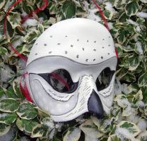 Snowy Owl Leather Mask by merimask