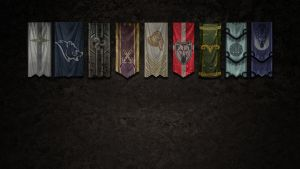 Skyrim Banners Wallpaper by Mustang-sauvage