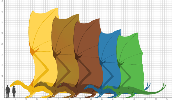 First Pass Pern - Dragon Size Chart by peregyr
