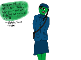 Elphaba Thropp, the green girl. by MyVisionIsDying