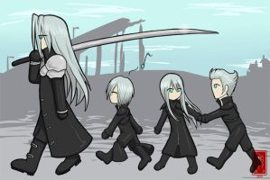 Sephiroth goes for a walk by Adre-es