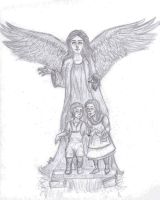 Angel protects children by julsgomez