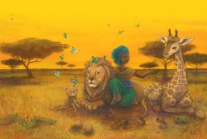 Nuru the African princess by Adelaida