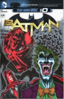 Batman #0 Red Hood Sketch Cover by Chris Foreman by chris-foreman
