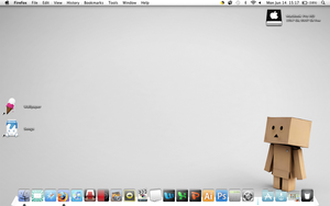 Pure White Danbo Mac Theme by SmilesMemories