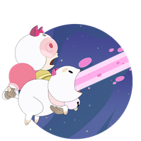 Bee and Puppycat LASER by Everay