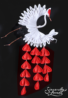 Crimson Rain Kanzashi by SincerelyLove