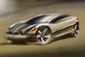 Sketching car practice 1 by koleos33