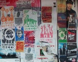 Posters in the alley by hydestock