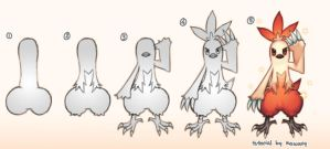 How to draw a Combusken by kawacy