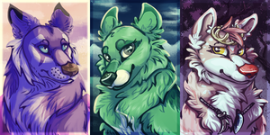 Many Many Avatars by achromacat
