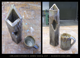 Ashen Vase and Cup by Katmomma