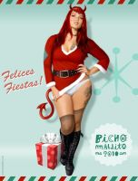 Pin-up xmas card 2010 by bichomaldito