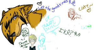Me and Meh friends doodles... by derpyLuvspie