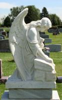 Mount Olivet Cemetery Angel 226 by Falln-Stock