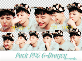 Pack PNG G-Dragon by pomzwon01