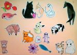 Fruits Basket Characters (cute version) by mondithebest
