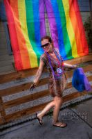 Amber in front of Gay Flags by JoeMyDodd