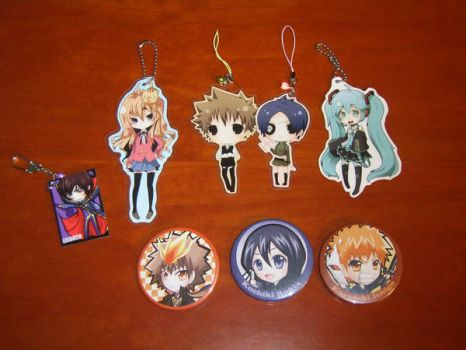 Key chains and Badges by Tsunayoshi2710