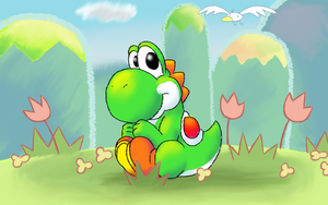 Cute Yoshi by nin10do-gamer