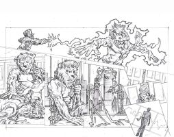 Stars 3 - Page 22 and 23 Pencils by KurtBelcher1