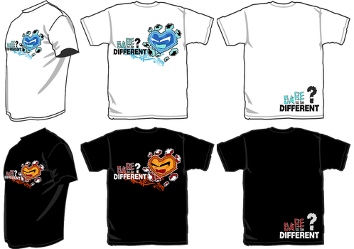 tee design-daretobedifferent by feat-scatterbrain