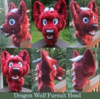 Dragon Wolf Fursuit Head by GoldenCat22