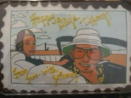 Fear And Loathing Cake by StickstoMagnet