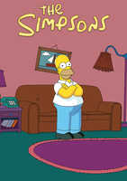 Homer Simpson with Illustrator by EmaXX