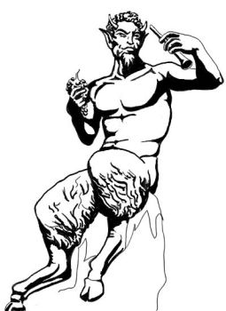 Satyr tattoo by theonlytime