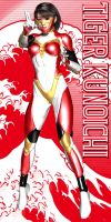 Tiger Kunoichi - The 'Power Ranger' outfit by Sailmaster-Seion