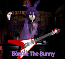 Bonnie The Bunny with his guitar by White-Hu