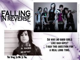 Falling In Reverse Wallpaper by cutielou