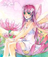 Pink fairy by AlleyCreek