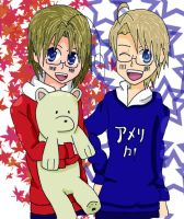 Matthew and Alfred - Hetalia by Mizuka-san