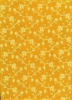 Yellow saree pattern II by LaTaupinette