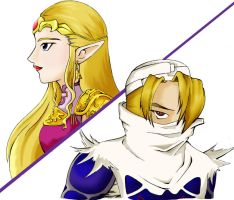 Zelda and Sheik by Corpas