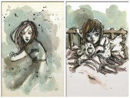 watercolor 15' sketches... by neurotic-elf