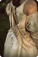 Tudor Style Bodice (back lacing and corset) by Rachyf1