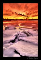 Flaming Ice by Behindmyblueeyes